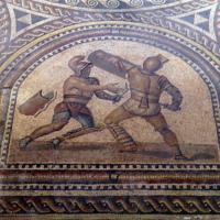 Detail of Gladiator Mosaic Floor