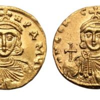 A Byzantine Gold Solidus of Leo III and Constantine V