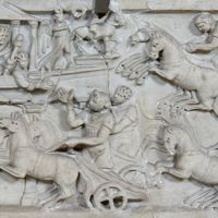 Circus Race Marble Relief
