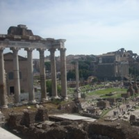 A View of the Roman Forum.