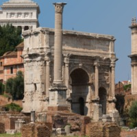 The Roman Forum with a view of the 7th Century Column of Phokas