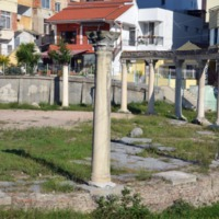 The 5th-7th century Byzantine circular forum in Durres, Albania.