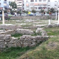 A 5th-7th Century Byzantine Forum in modern day Durres, Albania possibly attributed to the Emperor Anastasius.
