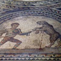 Detail of Gladiator Mosaic Floor 2