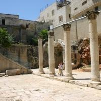 A porticoed street in Jerusalem