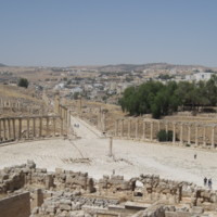 The Forum at Jerash (modern Jordan)