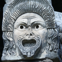 Theatre Mask in Architecture at Ostia