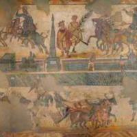 Palestra Floor Mosaic, Adjoining a Villa Bathhouse