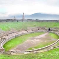 Interior of Amphitheatre at Pompeii