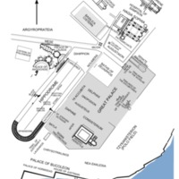 Map of Byzantine Constantinople with Hippodrome