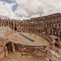 Interior of El Djem Amphitheatre