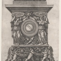 A 16th Century Artist's Sketch of the Column of Theodosius