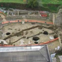 Exposed Canals Under Peristyle of Villa del Casale