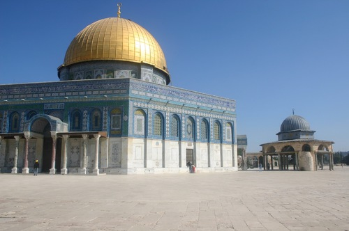 The Dome of the Rock and the Dome of the Chain