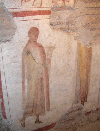 Mosaic Depicting Senator Pammachius Making An Offering