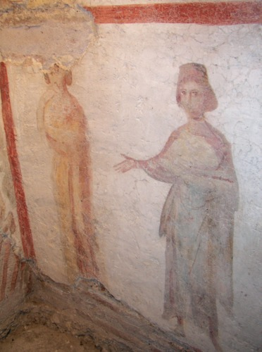 Mosaic Depicting Paulina and possibly Rufina, her younger sister