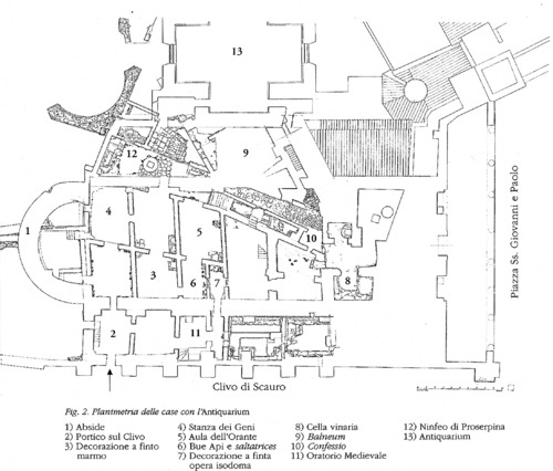 Aerial Reconstruction of Ss. Giovanni e Paolo, With Positioning of Staircase Visible