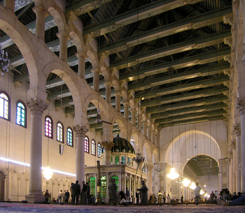 Interior of the Great Mosque of Damascus
