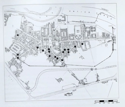 Map of Ostia Showing Late Antique Domestic and Work-Place Shrines